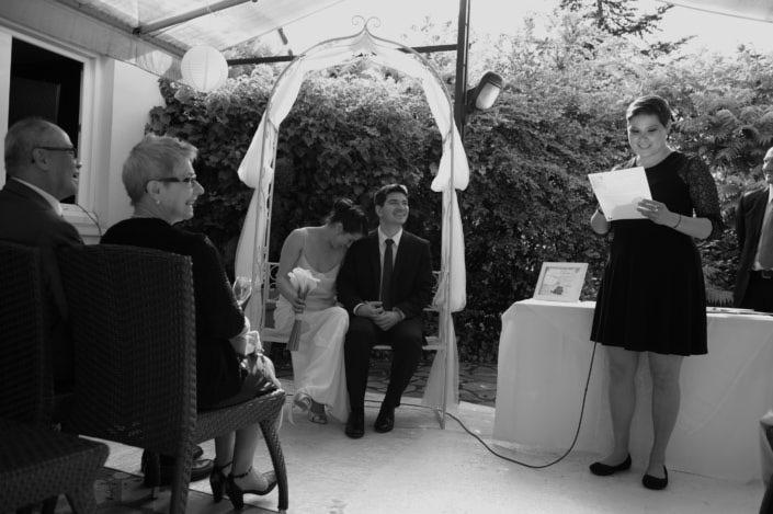cérémonie de mariage - les mariés